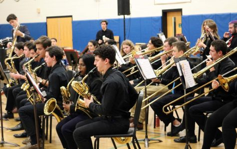 The PMHS band gets the the audience tapping their toes during the winter concert.