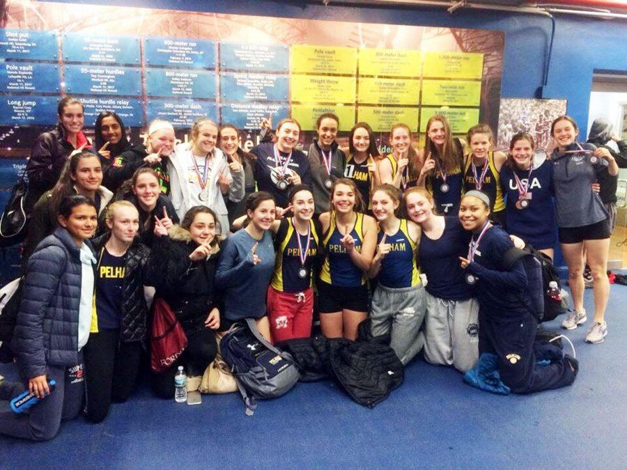 Girls team celebrates after their big win.