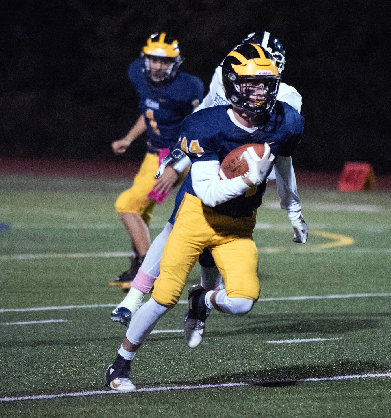 Junior Nick Senerchia sprints down the field.