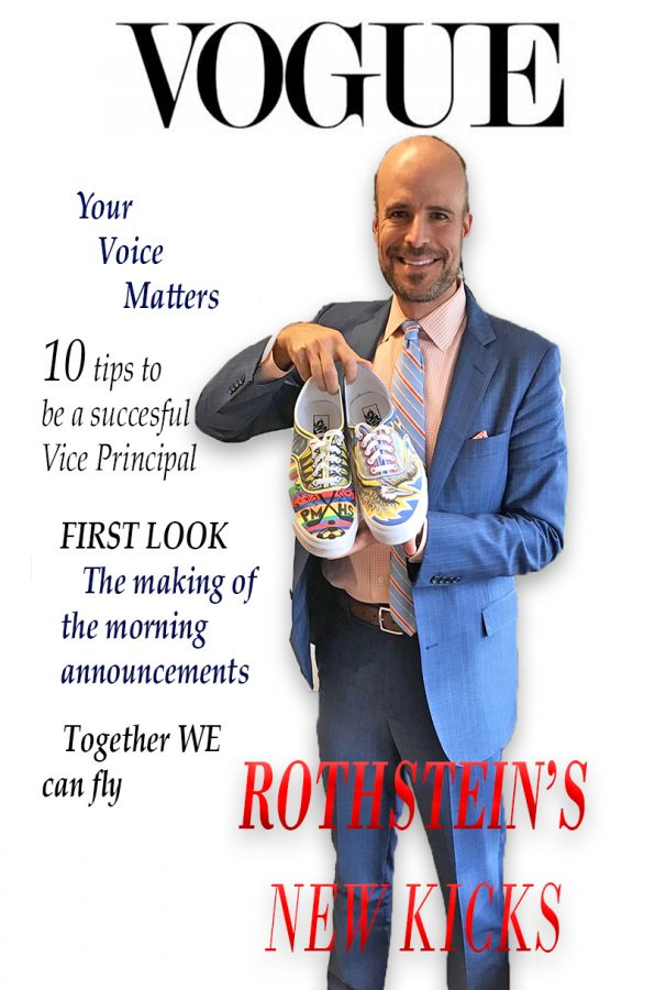 Mr. Rothstein wears his custom-designed sneakers every Friday.