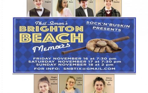 "SnB presents ""BRIGHTON BEACH MEMOIRS"" November 16-18"