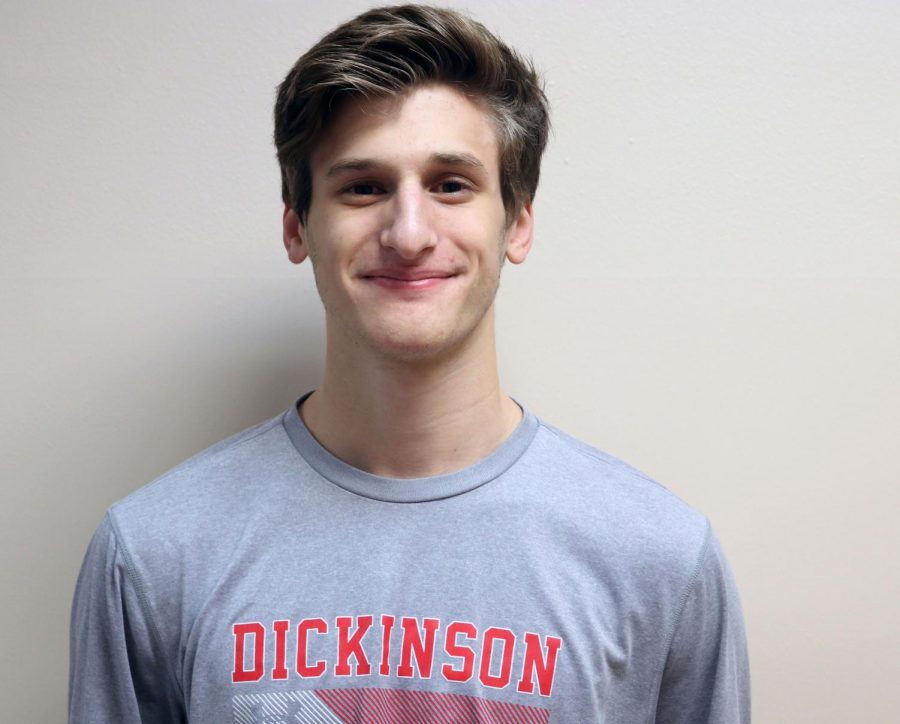 Senior Charlie Miske is running off to  Dickinson College for the next four years.