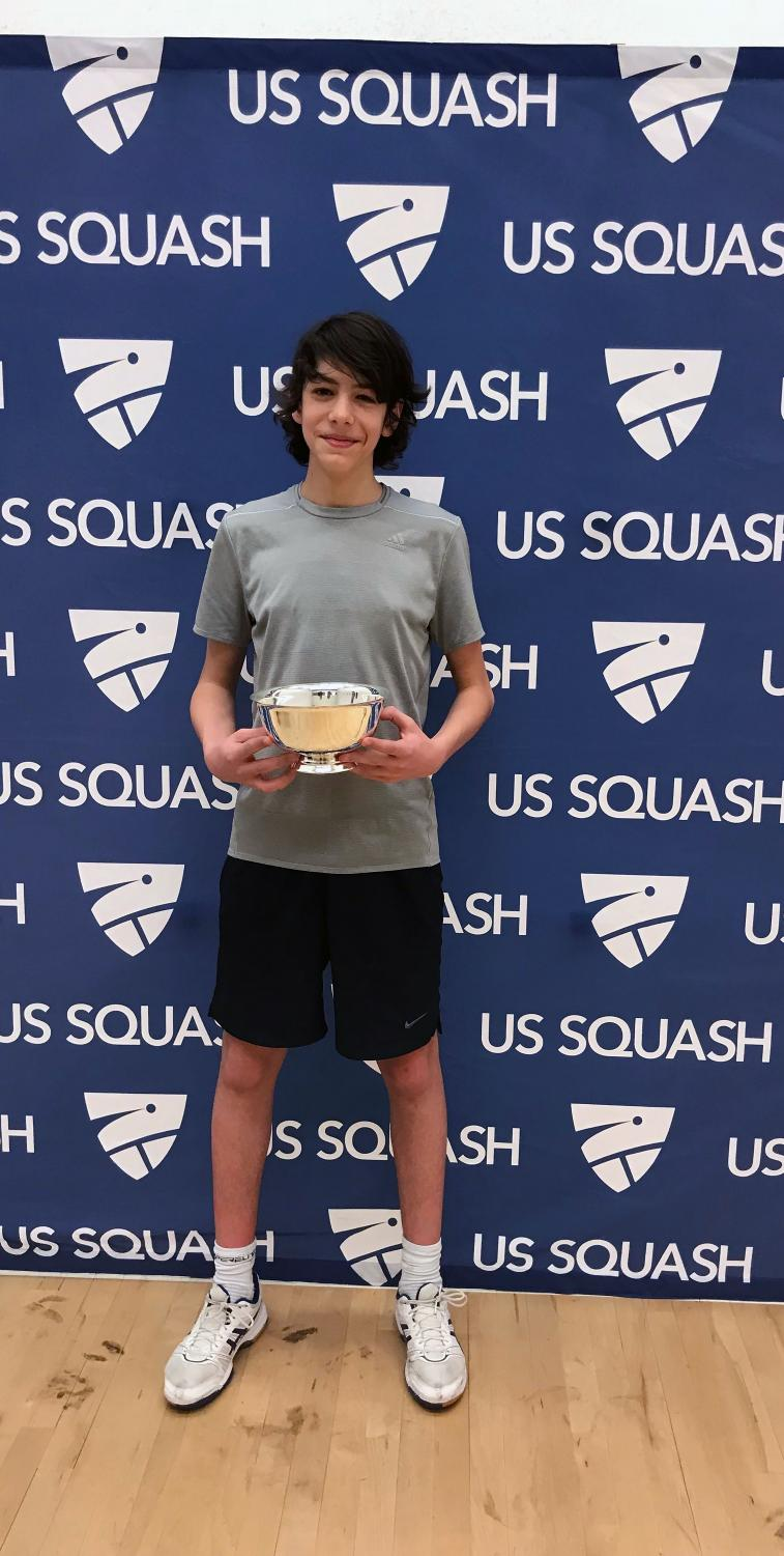 Senior Nicolo Abou-Taleb won the William T. Kechum Award for his squash skills.