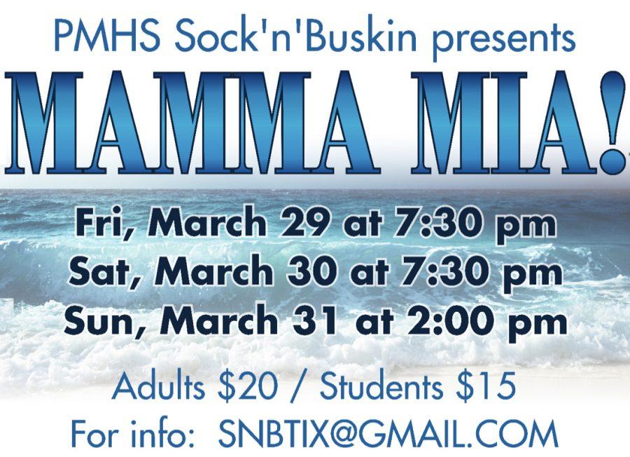 MAMMA MIA takes the stage March 29-31