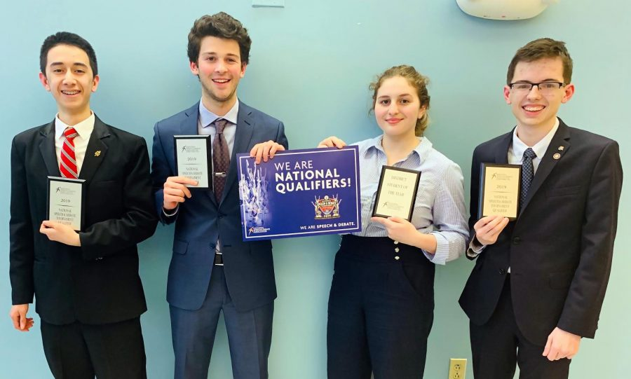 Four Qualify for National Speech Tournament