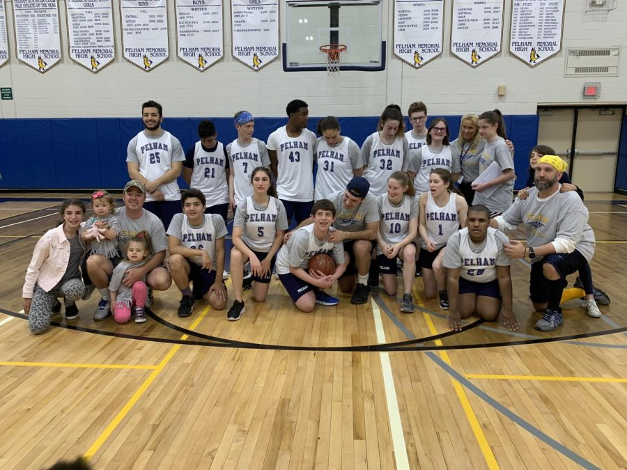 The unified basketball team played hard to win their first game.