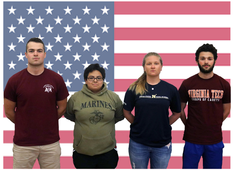 %28l+to+r%29%3A+Seniors+Andrew+Shulzhenko%2C+Ashley+Montiel%2C+Maddy+Ploch%2C+and+Henry+Driesen+aim+to+include+military+service+in+their+future.