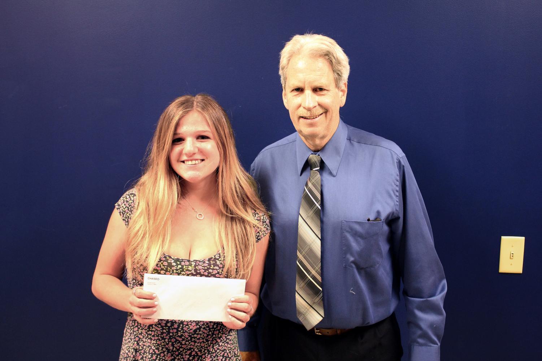 Rachel Brewer receives The Janet E. Keiser Memorial Scholarship.