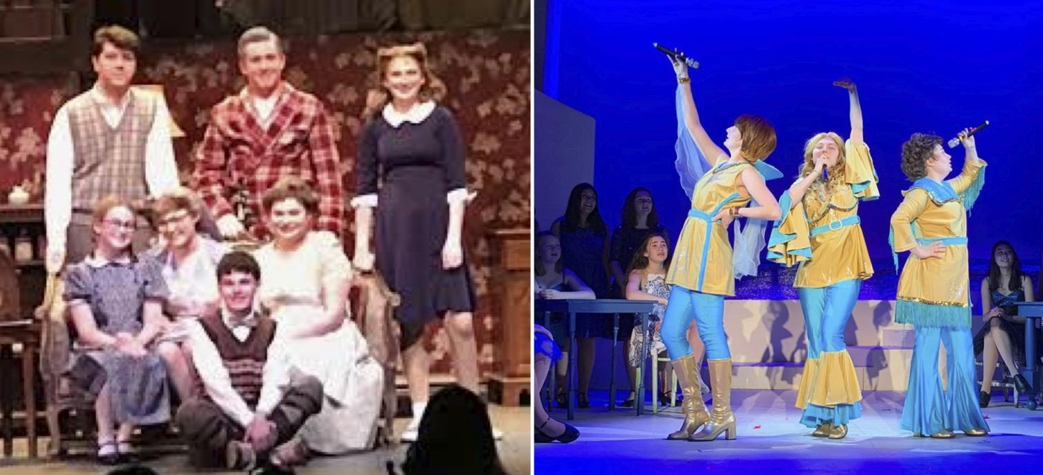The cast and crew of Brighton Beach Memoirs (l) and Mamma Mia (r) were each recognized for their outstanding work both on stage and behind-the-scenes.