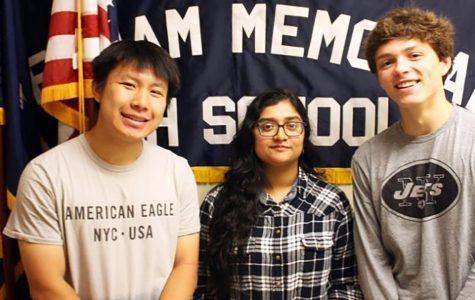 Three Honored as National Merit Semifinalists