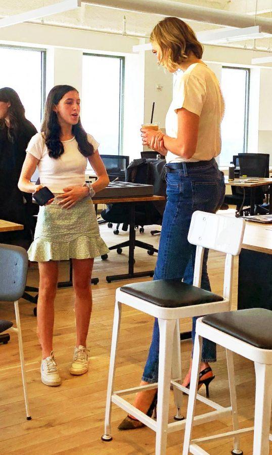 Sophomore Georgia Russello speaks with her boss, former supermodel, Karlie Kloss.