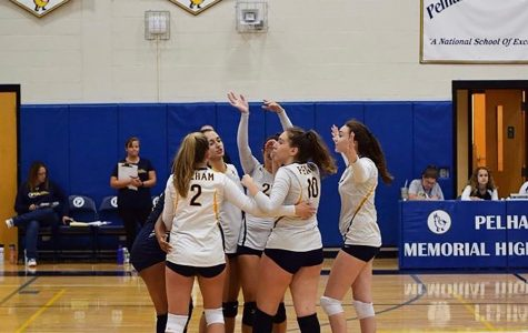 """Volleyball team """"whooshes"""" their way to victory."""