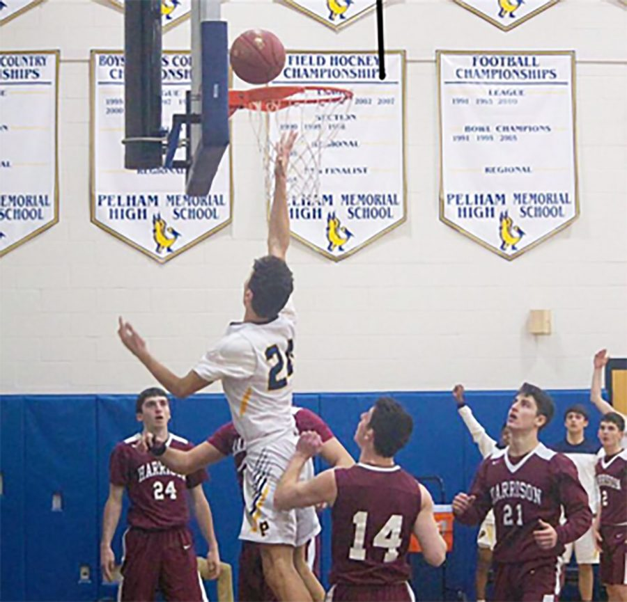 Junior Carlo Volpe elevates for a basket.