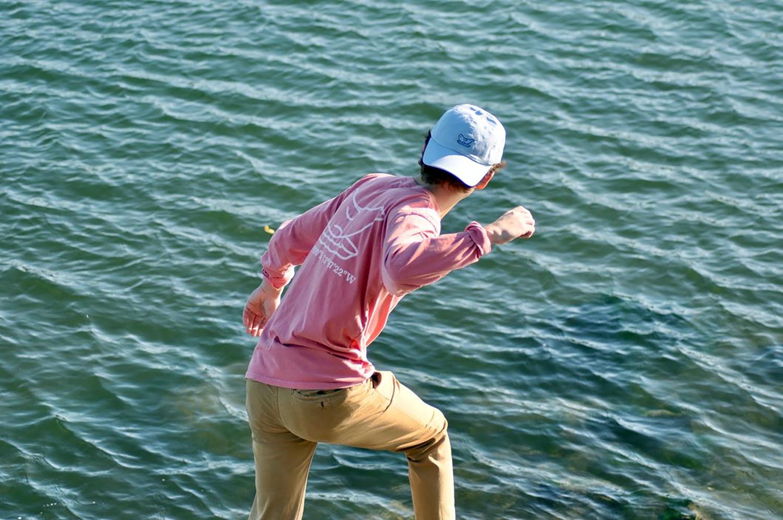 Senior Matt Reynolds sports one of the brand's t-shirts.