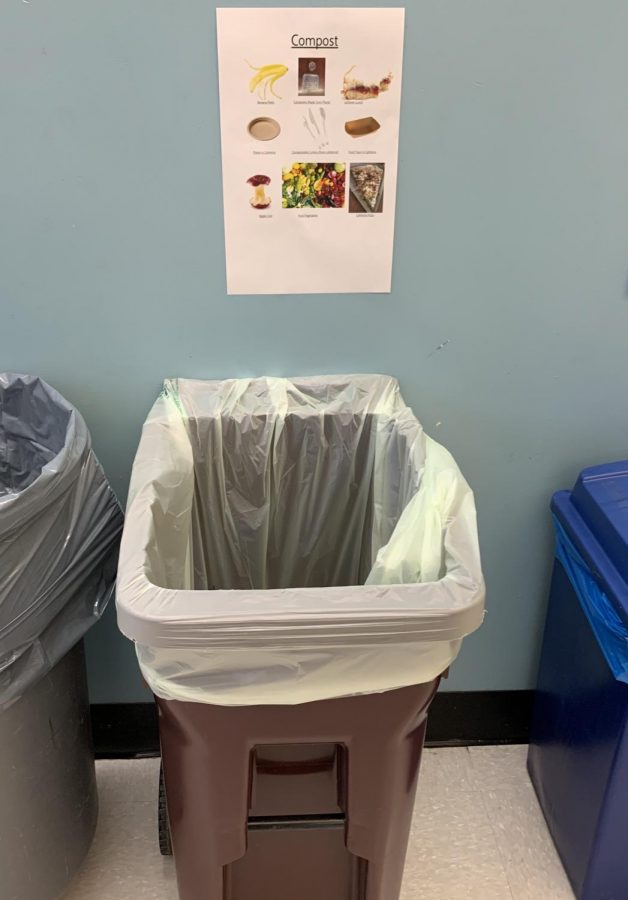 PMHS encourages students to start composting with their new bins.