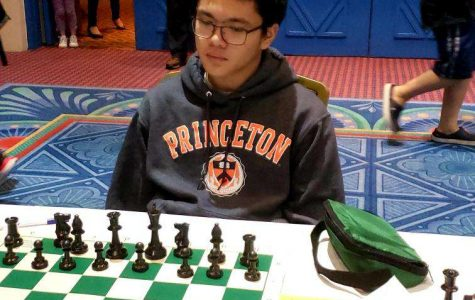 Sophomore LJ Sophomore Casenas thinks carefully about his next move.