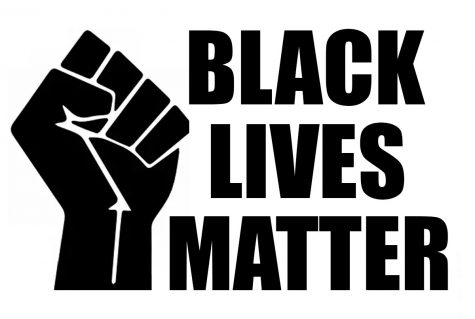 The Black Lives Matter logo shows a fist in solidarity for the movement.