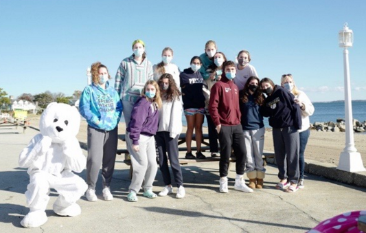 The Pelham contingent to the Polar Plunge braved the cold for a good cause.