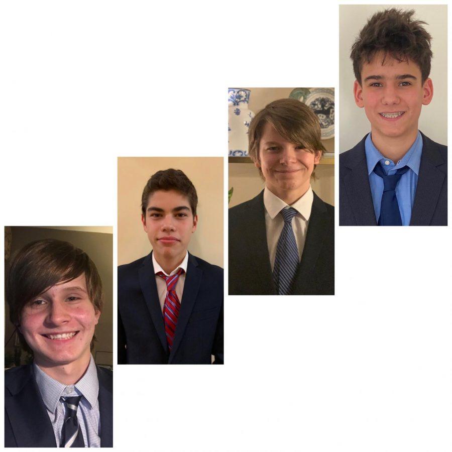 (l to r) Ulysses Conrad, Isaac Lief, Spencer Conrad  and Daniel Teleshevsky took to the virtual