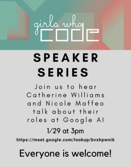 Girls Who Code Club Hosting Virtual Speaker Session
