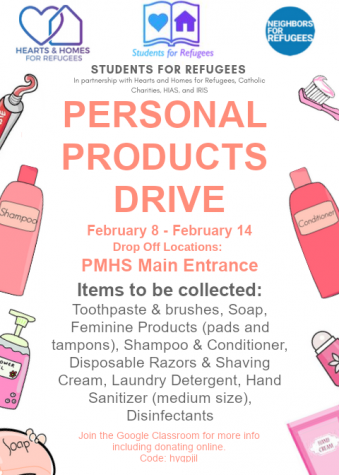Students for Refugees Club Hosts Product Drive