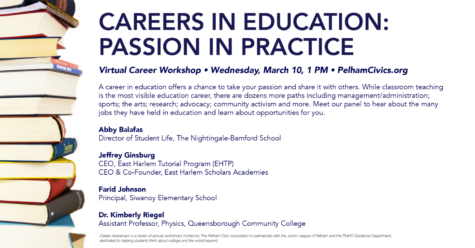 The Pelham Civics Association Hosting Careers in Education Seminar