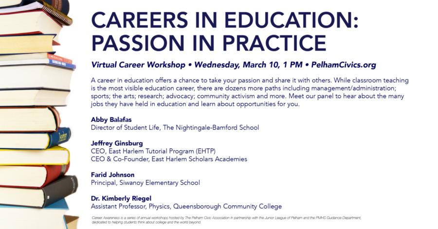 The+Pelham+Civics+Association+Hosting+Careers+in+Education+Seminar