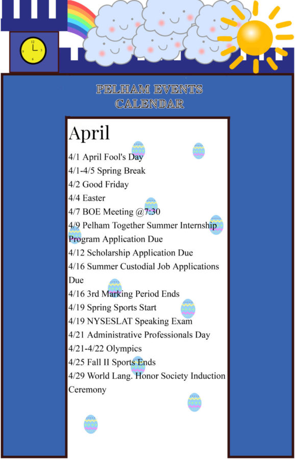April Events Calendar