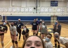 Varsity Volleyball Team in Quarantine